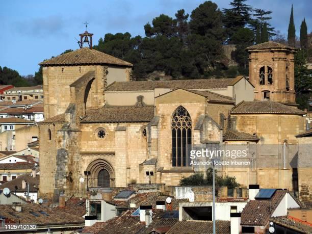 church of san miguel in estella - comunidad foral de navarra fotografías e imágenes de stock