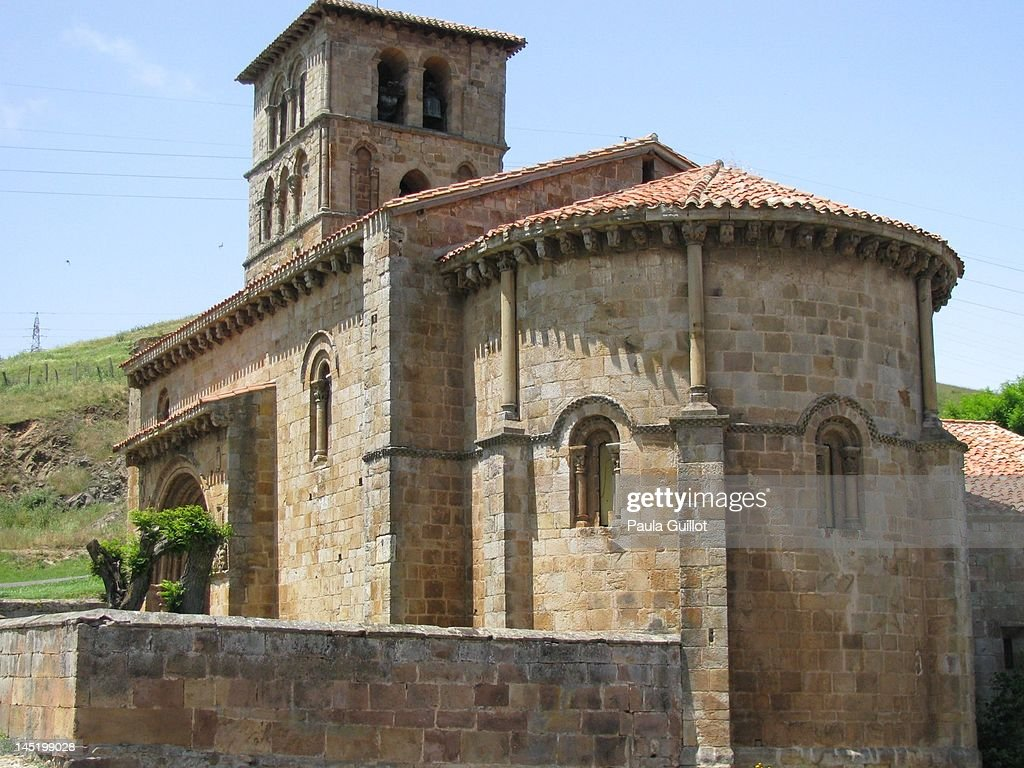 Church of San Pedro de Cervatos : Stock Photo