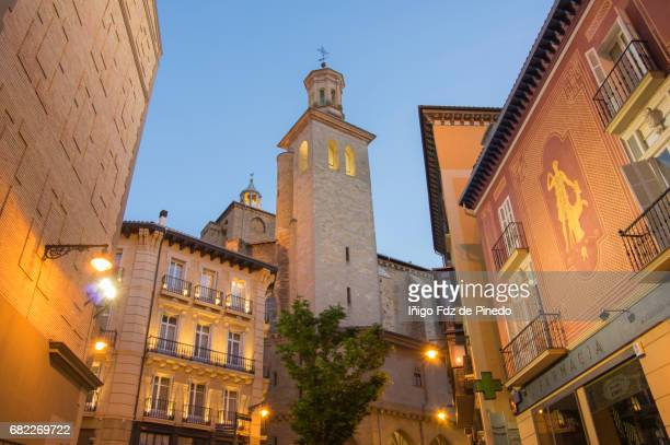 church of san saturnino- pamplona- navarre- spain - pamplona stock photos and pictures