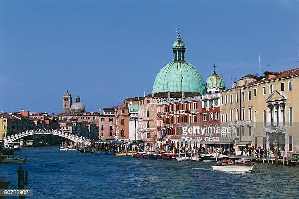 Church of San Simeone Piccolo or of San Simeone e Giuda Apostles on the Grand Canal with the Scalzi Bridge Venice Veneto Italy 18th century