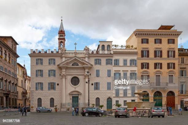 church of santa brigida in rome - gwengoat stock pictures, royalty-free photos & images