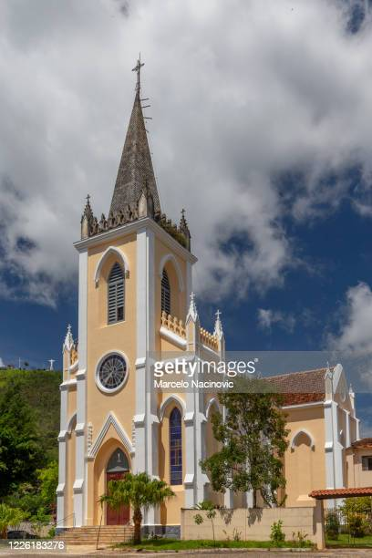 church of santa isabel de hungria in caxambu - marcelo nacinovic stock pictures, royalty-free photos & images
