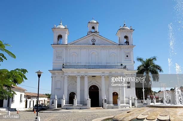 church of santa lucia in el salvador - el salvador stock pictures, royalty-free photos & images