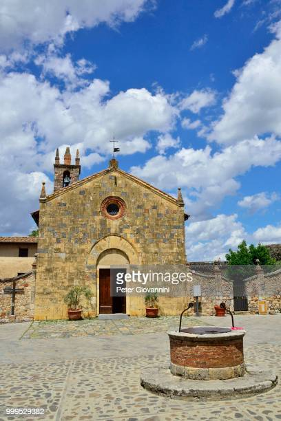 Church of Santa Maria Assunta in Piazza Roma, Monteriggioni, Province of Siena, Tuscany, Italy