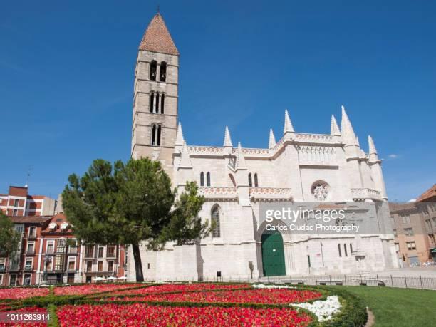 church of santa maria de la antigua, valladolid, castile and leon, spain - valladolid spanish city stock pictures, royalty-free photos & images