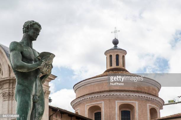 Church of Santa Maria del Suffraggio , in Duomo Square, in central L'Aquila on April 5, 2018. The ninth anniversary of the L'Aquila earthquake will...