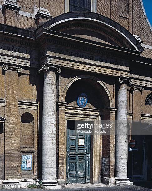 Church of Santa Maria dell'Orto attributed to Barozzi Jacopo known as Vignola Guidetti Guidetto 1566 1576 16th Century travertine