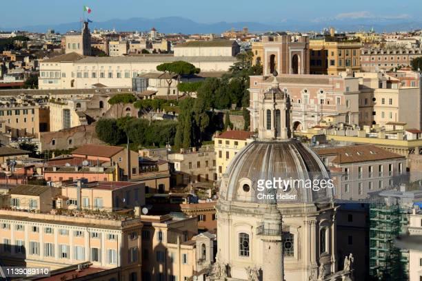 Church of Santa Maria di Loreto (1507) & Rooftops of Rome