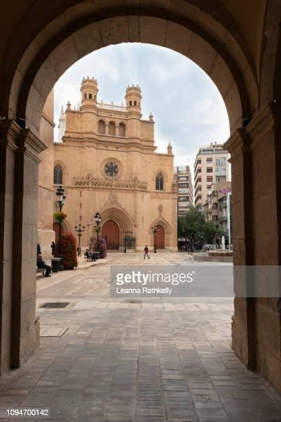 church of santa maria in castellon de la plana - castellon de la plana stock photos and pictures