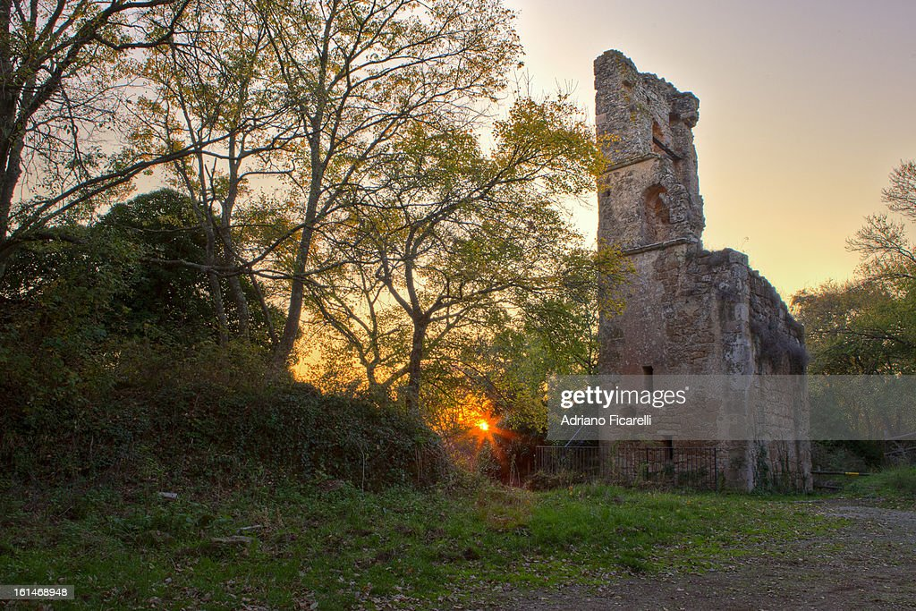 Church of Santa Maria in old Monterano : Foto stock