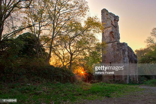 church of santa maria in old monterano - adriano ficarelli stock-fotos und bilder
