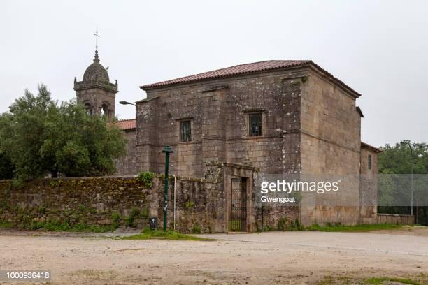 church of santa susana in santiago de compostela - gwengoat stock pictures, royalty-free photos & images