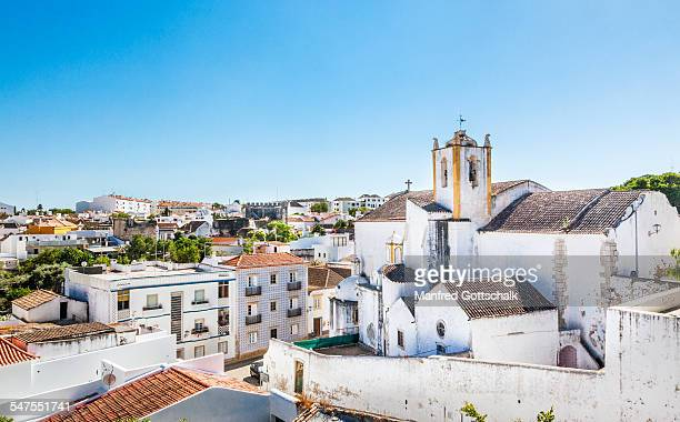 church of santiago at tavira - algarve stock photos and pictures