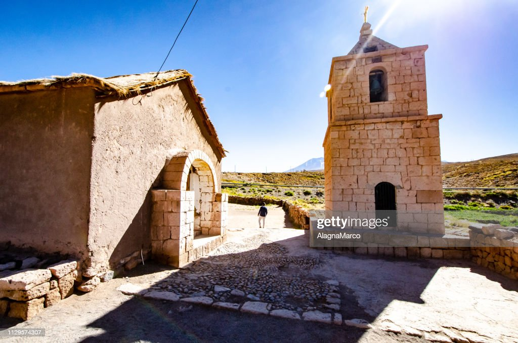 church of socaire : Stock Photo