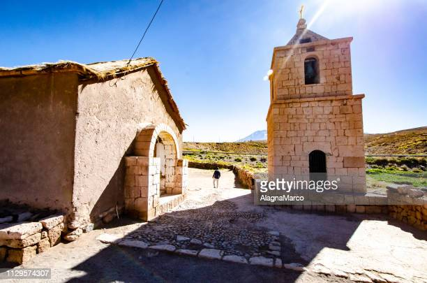 church of socaire - mattone stock pictures, royalty-free photos & images