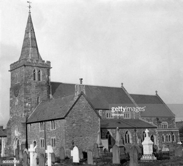 Church of St David Llanfaes in Brecon a market town and community in Powys Mid Wales Circa 1950