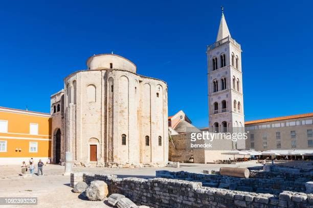 Church of St Donatus and bell tower of Zadar Cathedral in Croatia