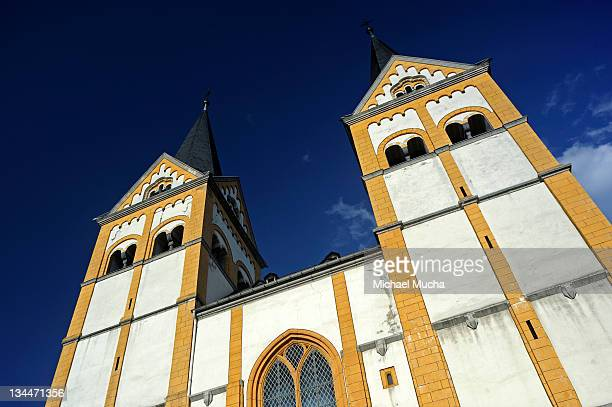 church of st. florian, koblenz, rhineland-palatinate, germany, europe - michael mucha stock-fotos und bilder