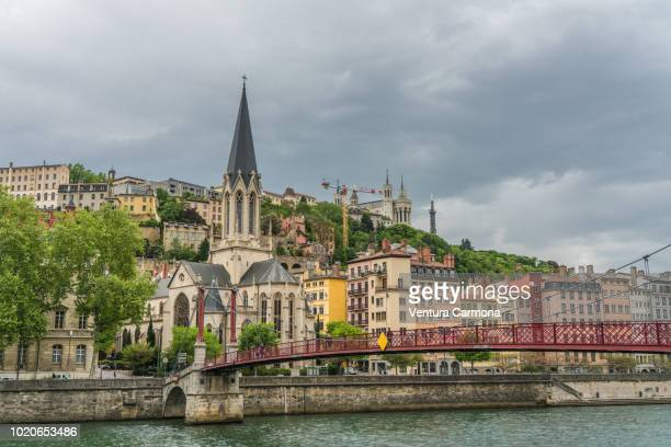 church of st. george in lyon, france - rhone stock pictures, royalty-free photos & images