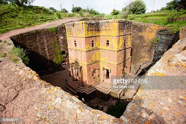 church of st george - lalibela stock photos and pictures