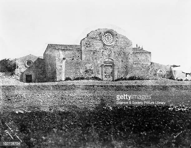 Church of St Giovanni Syracuse Sicily Italy 1846 Church of St Giovanni Syracuse Sicily Italy 1846 Calotype by Reverend George Wilson Bridges Bridges...