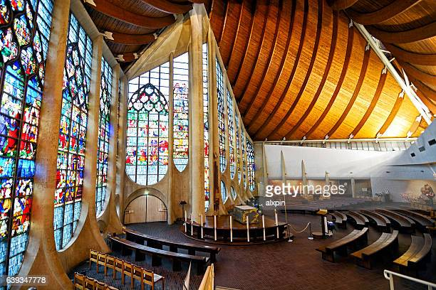 church of st. joan of arc, rouen - rouen stock pictures, royalty-free photos & images
