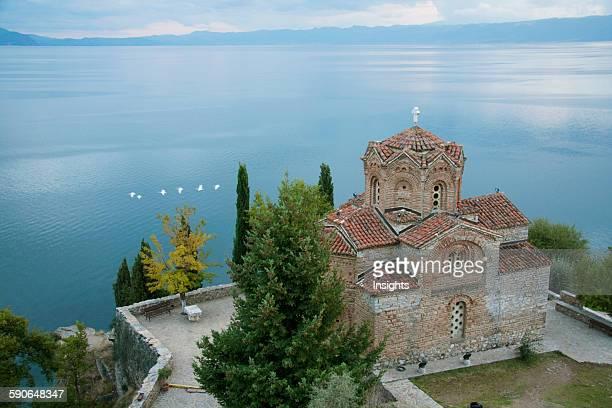 Church Of St Jovan At Kaneo And Ohrid Lake At Sunset Ohrid Macedonia