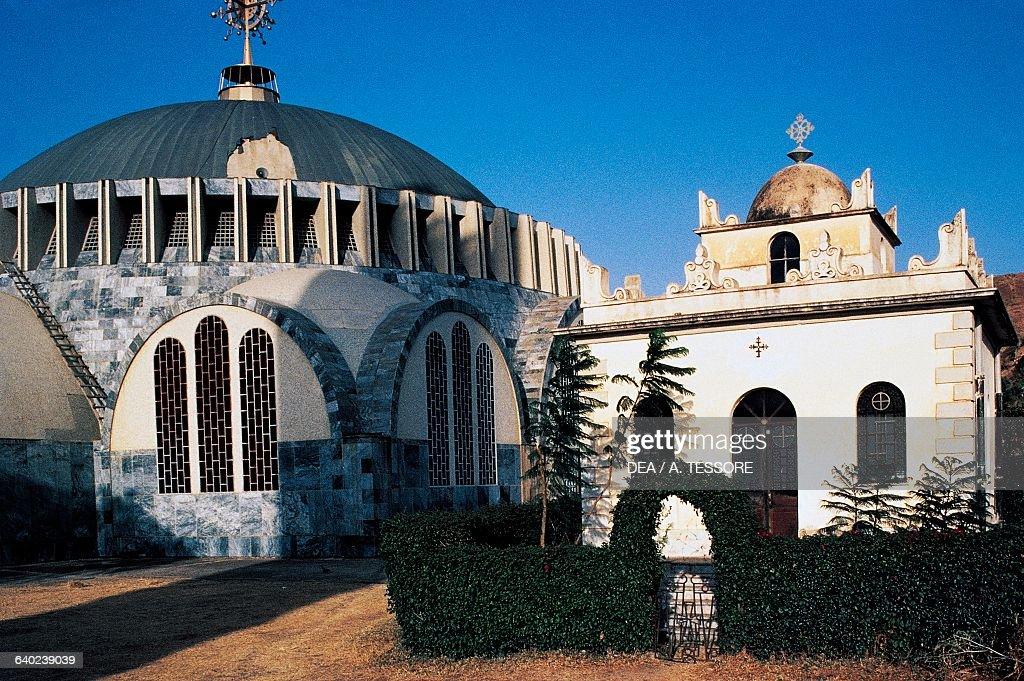 Church of St Mary of Zion and mausoleum, Axum : Nachrichtenfoto