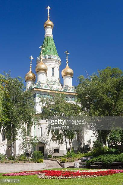 church of st nicholas the miracle-maker in sofia, bulgaria - miracle stock photos and pictures