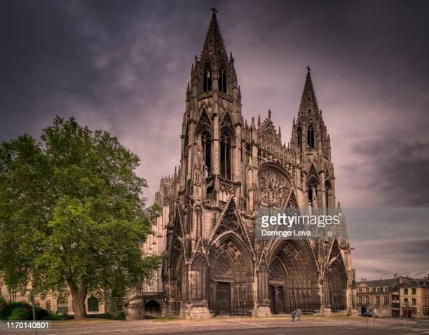 church of st ouen, rouen, normandy, france, europe - cathedral stock pictures, royalty-free photos & images