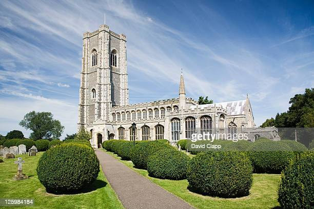 church of st peter and st paul, lavenham, suffolk, uk - lavenham stock photos and pictures