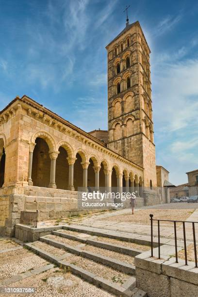 Church of St. Stephen, Iglesia de San Esteban, Segovia, Segovia Province, Castile and Leon, Spain. The 12th century Romanesque church is noted for...