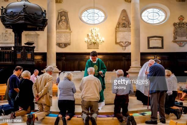 Church of St Stephen Walbrook, London, U.K. Holy communion.
