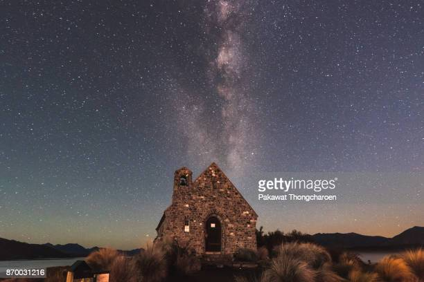 Church of the Good Shepherd at Night, Lake Tekapo, New Zealand