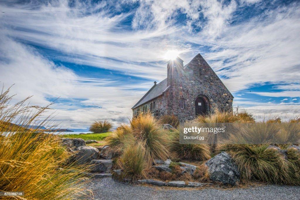 Church of the Good Shepherd at Tekapo Lake : Stock Photo