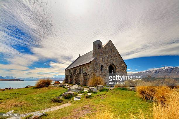 church of the good shepherd by lake tekapo, nz - international landmark stock pictures, royalty-free photos & images