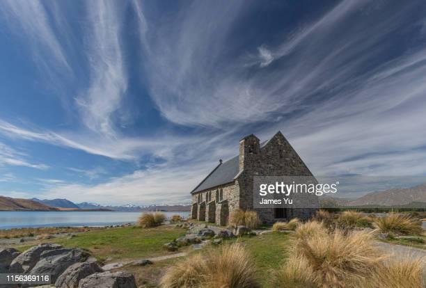 church of the good shepherd - lago tekapo fotografías e imágenes de stock