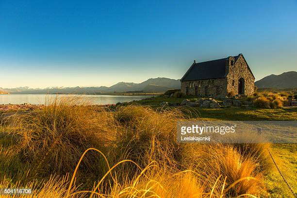church of the good shepherd - new zealand stockfoto's en -beelden
