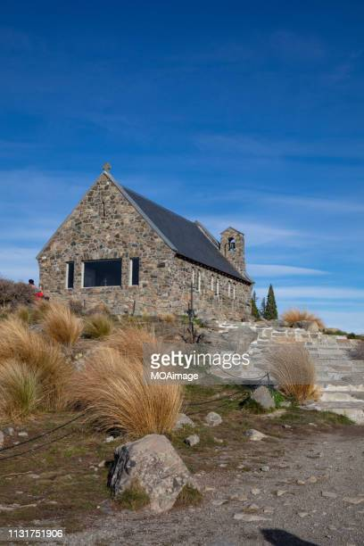 church of the good shepherd - tekapo,the south island,newzealand - iglesia del buen pastor tekapo fotografías e imágenes de stock