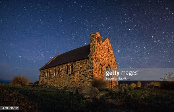 Church of the good Shepherd under stars