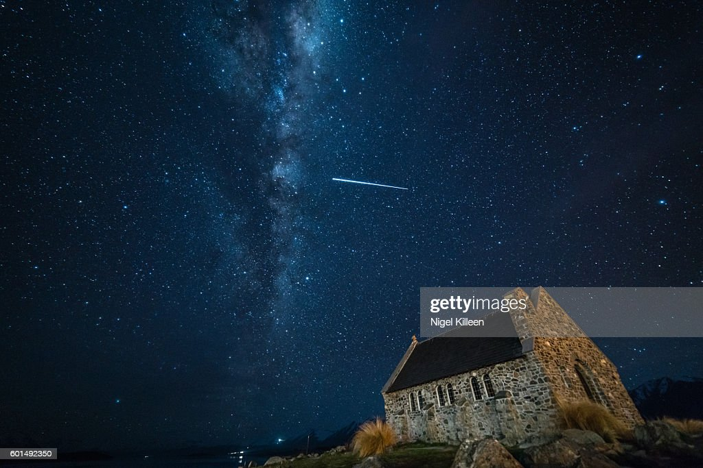 Church of the Good Sherpherd, Lake tekapo, New Zealand : Stock Photo