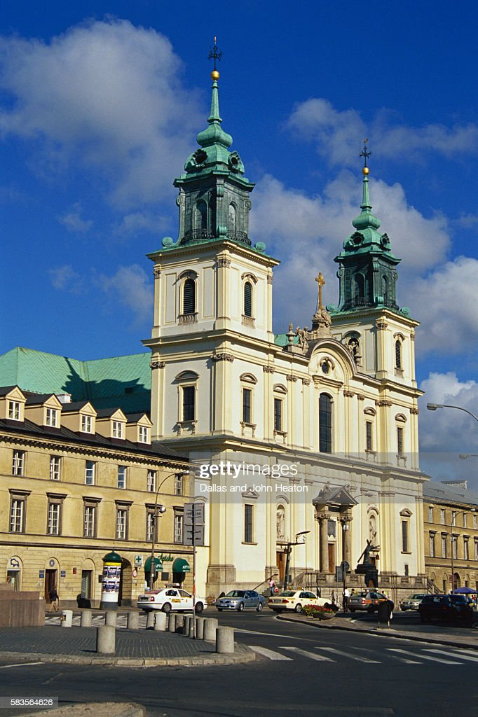 Church of the Holy Cross, Old Town, Warsaw, Poland : Stock Photo