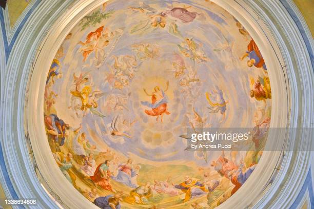 church of the holy cross, san miniato , tuscany, italy - san miniato stock pictures, royalty-free photos & images