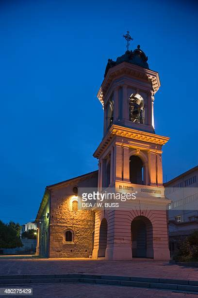Church of the Holy Mother of God old town of Plovdiv Bulgaria Night view
