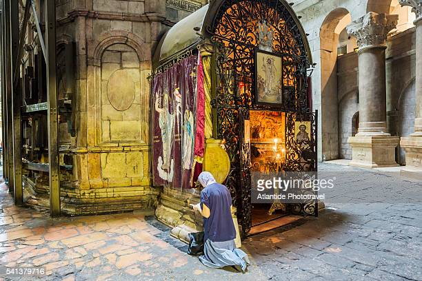 Church of the Holy Sepulchre (also called the Basilica of the Holy Sepulchre), Anastasia Rotunda, the Coptic chapel behind the Tomb of Jesus