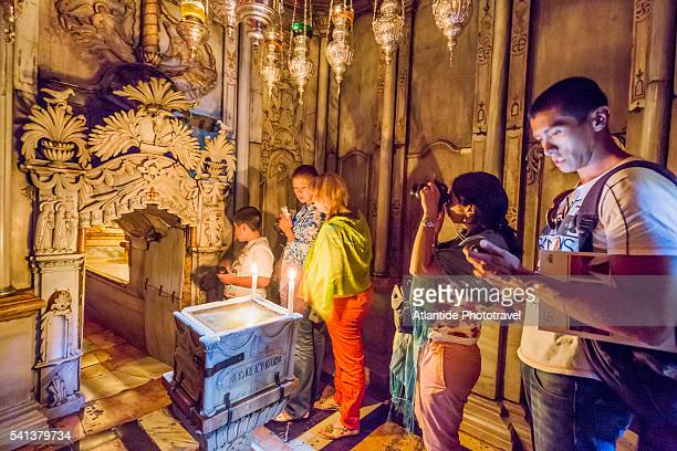 Church of the Holy Sepulchre (also called the Basilica of the Holy Sepulchre), Anastasia Rotunda, Tomb of Jesus, the Chapel of the Angel