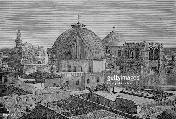 Church of the Holy Sepulchre at Jerusalem / Die Kirche des heiligen Grabes oder Grabeskirche in Jerusalem Israel 15th century Historisch digital...