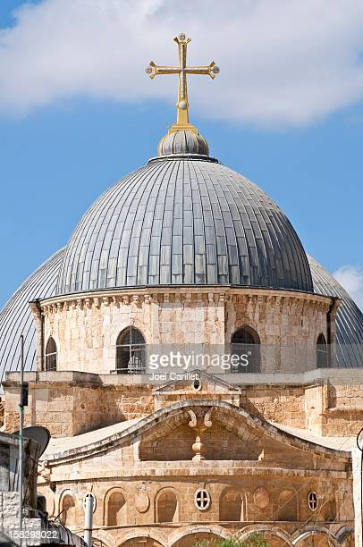 church of the holy sepulchre in jerusalem - historical palestine stock pictures, royalty-free photos & images