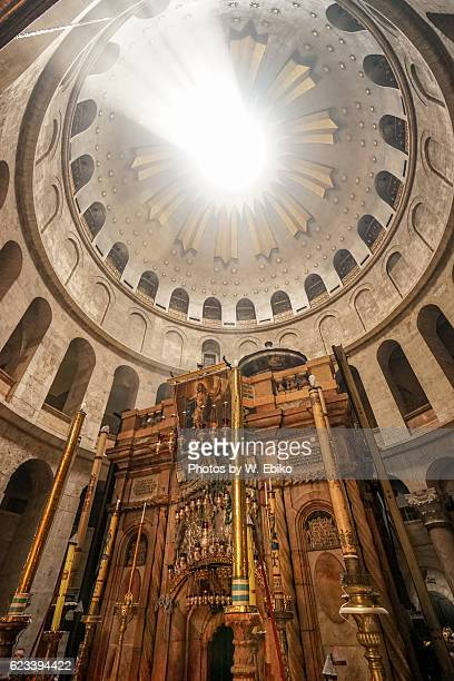 church of the holy sepulchre, jerusalem, israel - igreja do santo sepulcro imagens e fotografias de stock