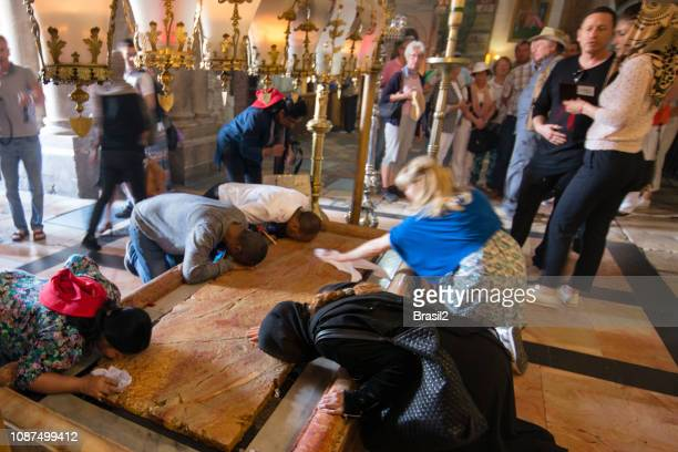 church of the holy sepulchre - pilgrimage stock pictures, royalty-free photos & images